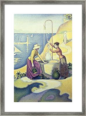 Signac, Paul 1863-1935. Women Framed Print