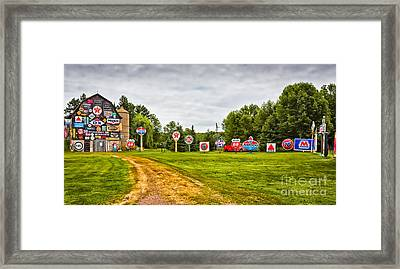 Framed Print featuring the photograph Signage Barn by Ricky L Jones