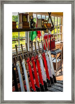Signal Box Framed Print by Adrian Evans