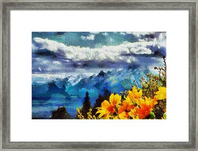 Signal Mountain Summer Framed Print by Dan Sproul