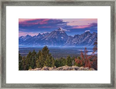 Signal Mountain Sunrise Framed Print by Mark Kiver