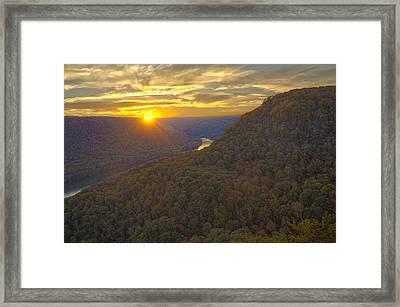 Signal Sunset Framed Print by Ryan Moyer