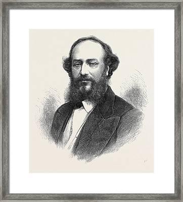 Signor Mario 1871 Framed Print by English School