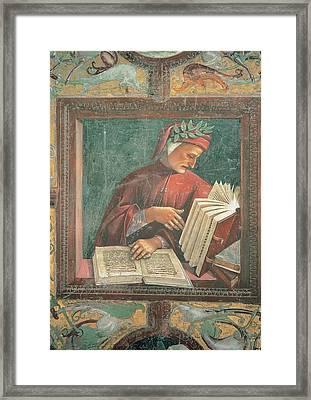 Signorelli Luca, Dante Alighieri, 1499 Framed Print by Everett