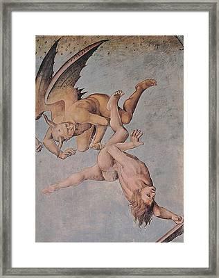 Signorelli Luca, The Damned Souls Framed Print by Everett