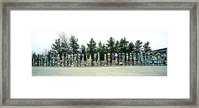 Signposts At The Roadside, Sign Post Framed Print by Panoramic Images