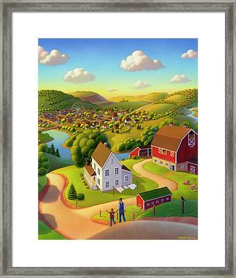 Signs And Wonders Framed Print by Robin Moline