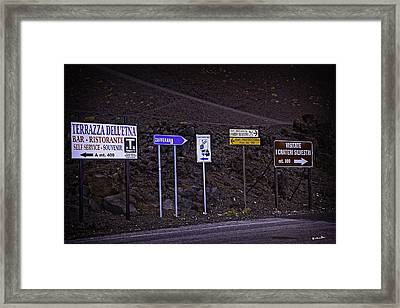 Signs Of A Crater - Sicily Framed Print by Madeline Ellis
