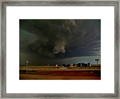 Framed Print featuring the photograph Signs Of A Supercell by Ed Sweeney