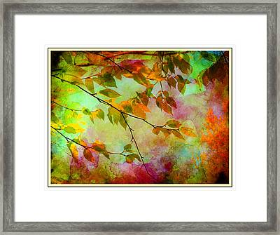 Framed Print featuring the digital art Signs Of Autumn by Nina Bradica