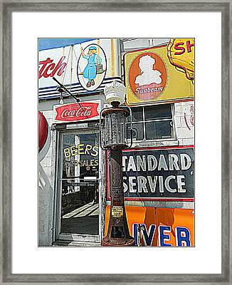 Signs Of Our Times 1 Framed Print by Kathy Barney