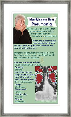 Signs Of Pneumonia Framed Print by Cmsp