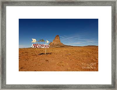 Signs Of The Times Framed Print by Beve Brown-Clark Photography