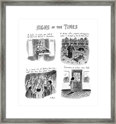 Signs Of The Times: Title Framed Print