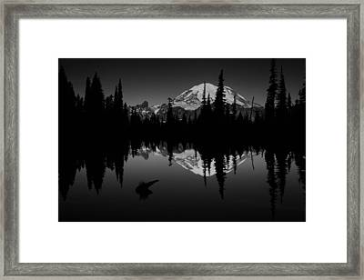 Sihlouette With Tipsoo Framed Print by Mark Kiver