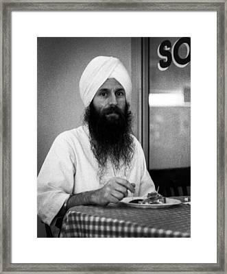 Sikh And Souvlaki Framed Print