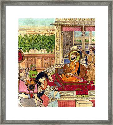Sikh Guru Framed Print by Munir Alawi