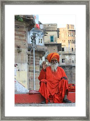 Indian Man Framed Print by Amanda Stadther
