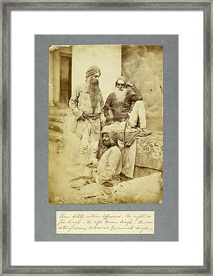 Sikh Native Officers Framed Print by British Library