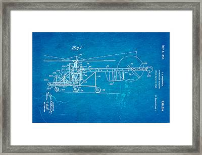 Sikorsky Helicopter Patent Art 1943 Blueprint Framed Print by Ian Monk