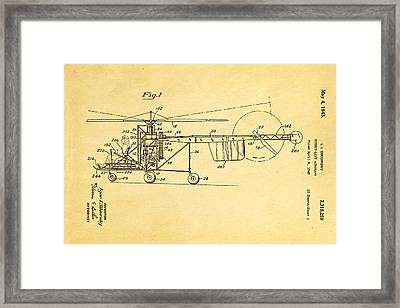 Sikorsky Helicopter Patent Art 1943 Framed Print by Ian Monk