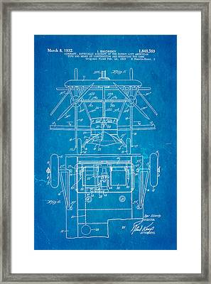 Sikorsky Helicopter Patent Art 3 1932 Blueprint Framed Print by Ian Monk