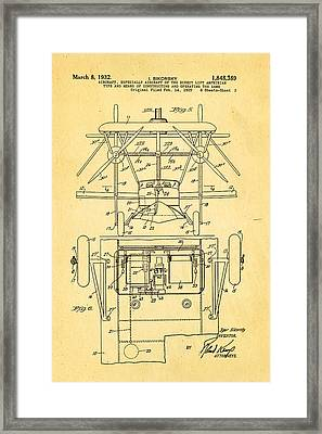Sikorsky Helicopter Patent Art 3 1932 Framed Print by Ian Monk