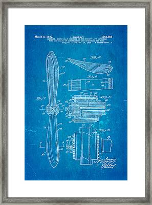 Sikorsky Helicopter Patent Art 4 1932 Blueprint Framed Print by Ian Monk