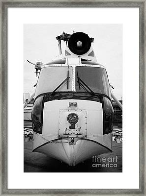Sikorsky Hh52 Hh 52 Sea Guardian Helicopter On Display Framed Print by Joe Fox