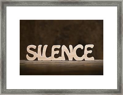 Silence Framed Print by Donald  Erickson