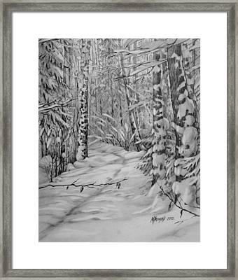 silence in Russian Framed Print