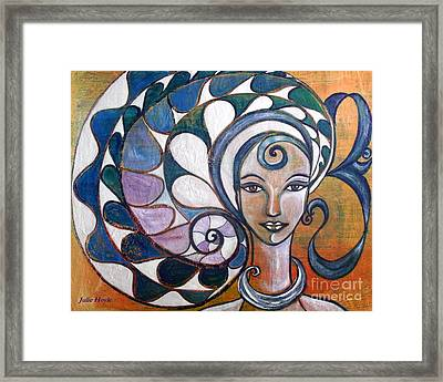 Framed Print featuring the painting Silence by Julie  Hoyle