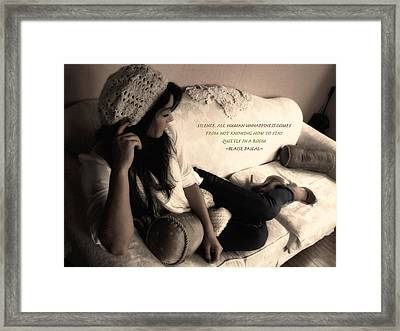 Silence Framed Print by Kristie  Bonnewell