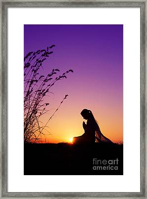 Silence Of Prayer Framed Print by Tim Gainey