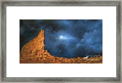 Framed Print featuring the painting Silence Of The Night by S G