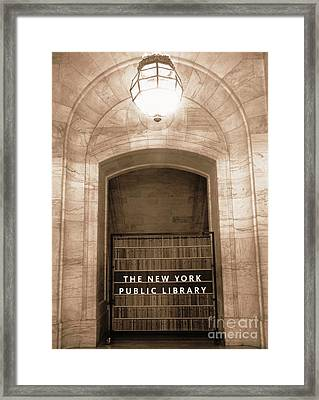 Silence Please Framed Print