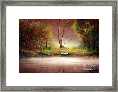 Framed Print featuring the painting Silence by Sorin Apostolescu