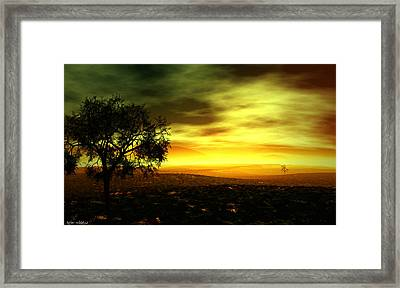 Framed Print featuring the painting Silence by Tyler Robbins