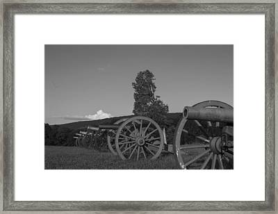 Silent Cannons Framed Print by Michael Williams
