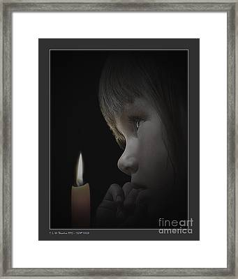 Silent Child Framed Print