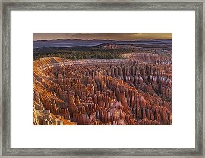 Silent City - Bryce Canyon Framed Print by Eduard Moldoveanu