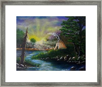 Silent Dawn Framed Print