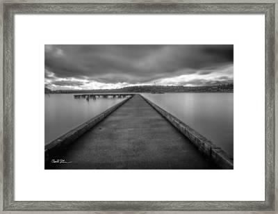 Silent Dock Framed Print