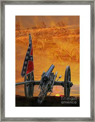 Silent Fields Of Gettysburg Framed Print by Randy Steele