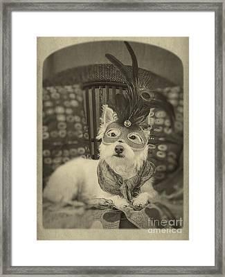 Silent Film Star Framed Print by Edward Fielding