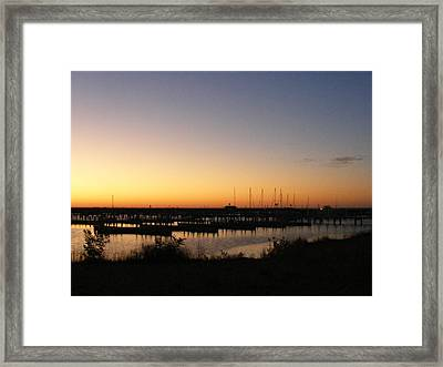 Silent Harbor Framed Print