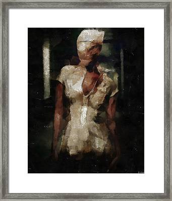 Silent Hill Nurse Framed Print by Joe Misrasi