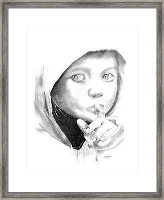Silent Hoodie Framed Print