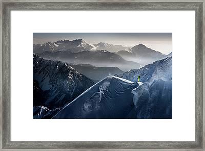 Silent Moments Before Descent Framed Print by Sandi Bertoncelj