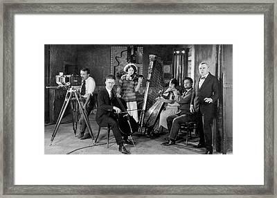 Silent Movie Music Scene Framed Print